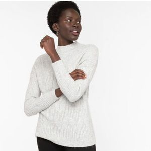 Ricki's Cable Knit Mock Neck Sweater